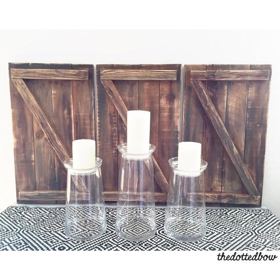 Mini barn door wall decor for Barn door home decor