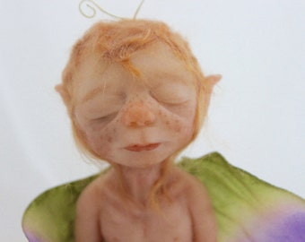 OOAK Butterfly Child: Hand Sculpted Art Doll