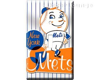 New York Mets MLB Major League Baseball Logo Single Light Switch Wall Plate  Cover Boy Bedroom