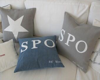 Linen Pillow/cushion  SPO (St Peter Ording)Message