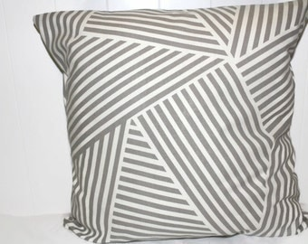 Nate Berkus Paramount Quarry Tan  Geometric Modern Indoor Pillow Cover 12x16, 16x16, 18x18