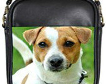 Adorable Jack Russell Leather Mini Purse!