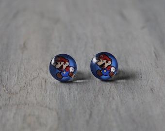Super Mario Bros Stud Earrings 12mm