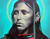 INVOCATION - Native American Portrait on Canvas