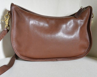 Vintage Coach Brown Swinger Shoulder Bag