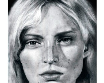 Face Nothing - Original pencil drawing