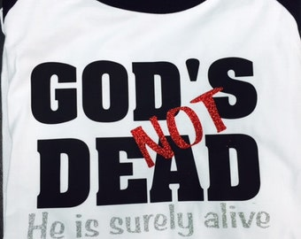 GOD'S NOT DEAD three quarter sleeve shirt