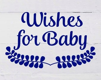 WISHES FOR BABY card to match any invitation in my shop, digital, printable file