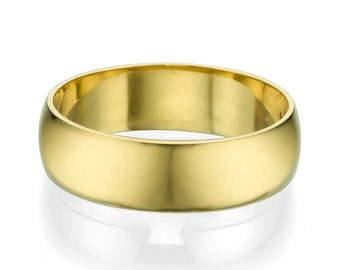 6mm Classic Wedding Engagement Band in 14k Yellow Gold