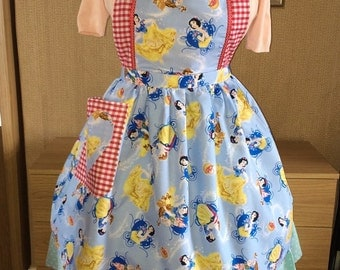 Snow White  Prince Charming Full Pinny, Apron for all Retro,Rockabilly 1940s / 1950s Disney, Vintage Lovers