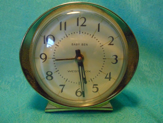 Vintage Clock Baby Ben Westclox Wind Up Alarm By Setxtreasures