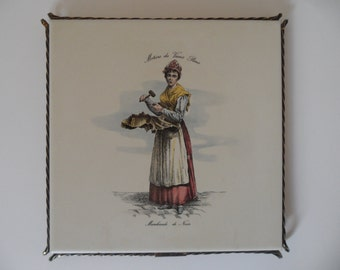 Large Ragno Sinterizzato, old tile trivet,Vintage tile trivet,italian tile,tile trivet,italian ceramic,italian ceramic,Ragno Italia