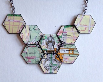 Vatican Map Necklace