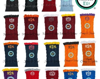Personalized Boot Cuffs/Monogrammed Boot Cuffs//Collegiate Game Day Wear//Boot Socks//Women's Clothing//Socks//Sorority Boot Cuffs