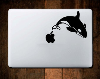 Killer Whale Decal, Swell Bottle Decal, Macbook Decal, Window Decal
