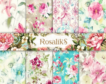 Gentle Floral Set, Watercolor Floral, Floral Paper, Digital Paper, Floral Pattern, Floral Wallpaper, Watercolor paper