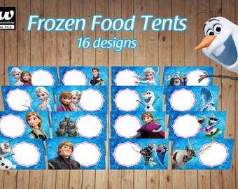 FROZEN BLANK Food Tents / Food Labels