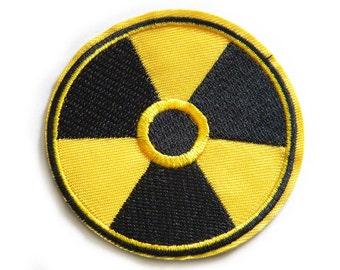 Embroidered Radioactive Symbol - Iron or Sew On Applique