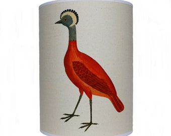 Red bird shade/ lamp shade/ ceiling shade/ drum lampshade/ lighting