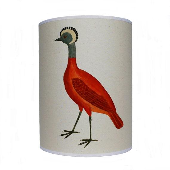 Bird Lamp Shades: Items Similar To Red Bird Shade/ Lamp Shade/ Ceiling Shade
