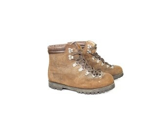 Summit Italian leather hiking boots  / alico / vintage / hand crafted in italy / size 6 -7
