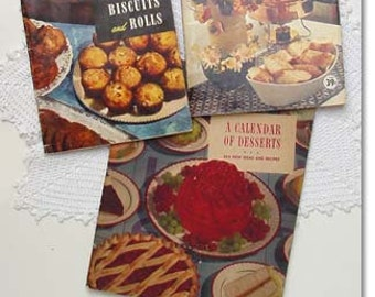 Temporary Price Reduction for Esty Shoppers! Lot of Three vintage Cookbooks  Breads Appetizers and Desserts (Inventory #M2040)