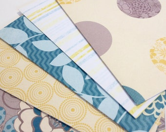 Circles Leaves and Stripes -- Coordinating Envelopes