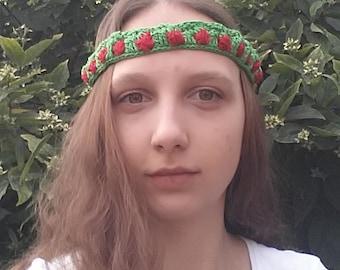 Green-red headband