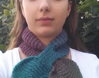 Multicolor 100% wool headband/neckwarmer