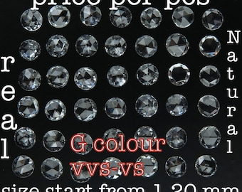 REAL 100% NATURAL Loose Diamonds Round Rose Cut G Colour VVS  Clarity Q112