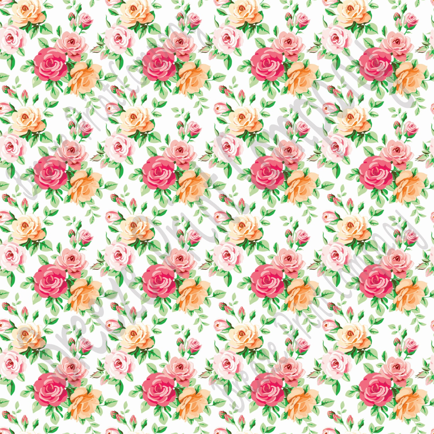Rose floral heat transfer or adhesive vinyl sheet with for Rose adesive