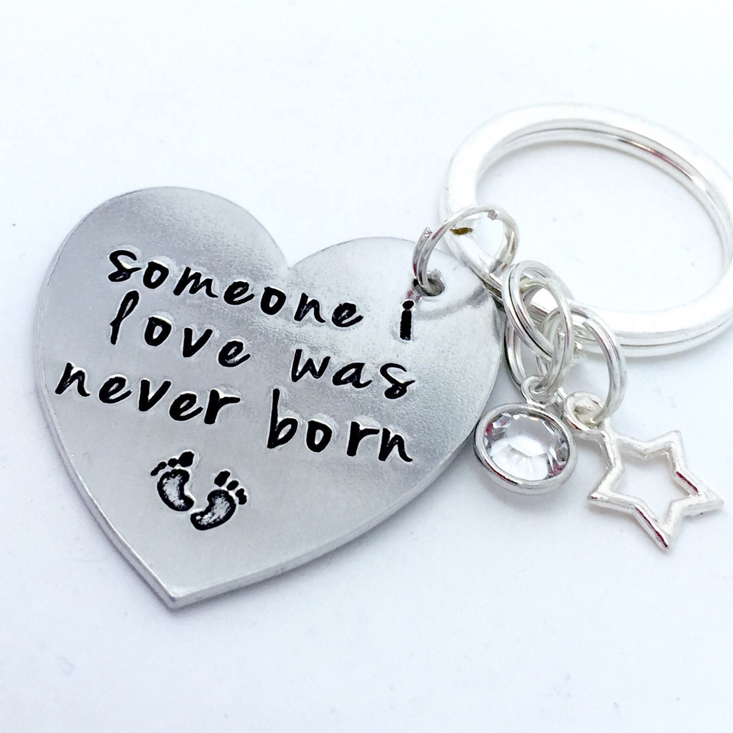 Infant Loss Miscarriage Keepsake Keyring Someone I Loved Was