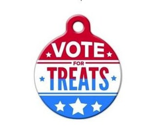 Vote For Treats Pet Engraved Pet ID Tag