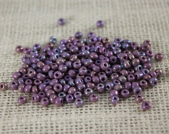 Vintage 4mm Pearlized Lilac Seed Beads (120 Pieces)