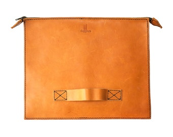 "13"" Macbook Vegetable Tanned Leather Handbag"