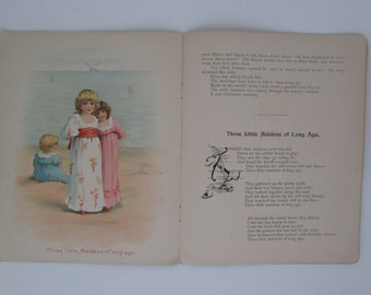 Vintage Illustrated Book Happy Holidays