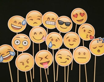 8 Emoji Photo Booth Props *you pick*