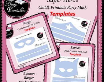 Super Hero Mask TEMPLATE Bundle by Boop Printables