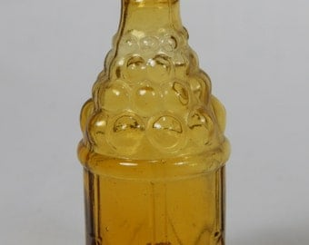 Vintage Miniature Amber Bottle By Wheaton Glass Co.