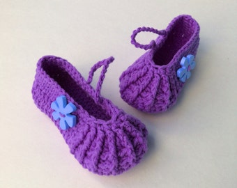 Crochet Pattern * Lisa Shoes* Instant Download Pattern # 461 * girls * Premature to 3 yrs * easy * Picture Prop * birthdays *PDF