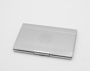 Personalized Business Card Case - Engraved Card holder with shiny surface Executive Gift