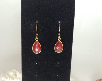 Natural ruby earrings