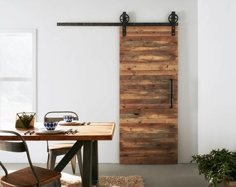 Custom Built Reclaimed Wood Sliding Door