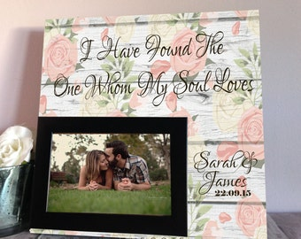 Anniversary Gift For Husband - Personalized Wedding Gift - Boyfriend Gift - Gift For Him - Husband Gift - Custom Picture Frame