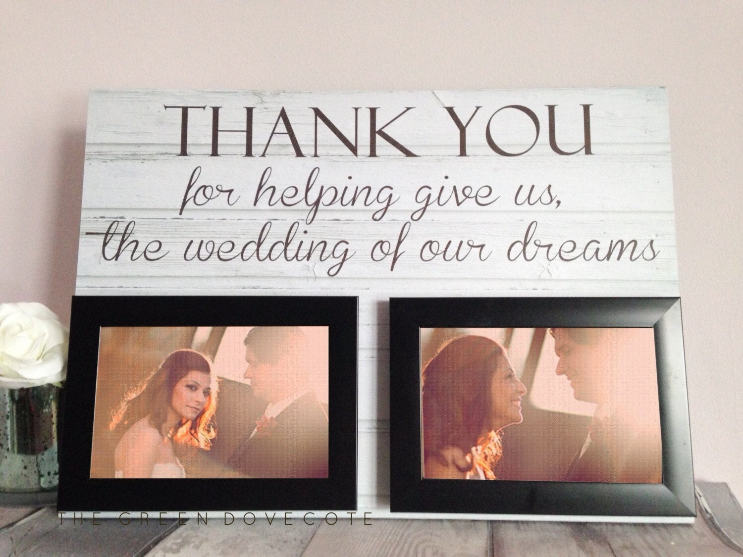 Thank You Wedding Gifts To Parents : Personalised Thank You Wedding Gift Parents Wedding Gift