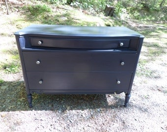 Vintage Painted Dresser / Blue Dresser / Media Console / Buffet / Changing Table