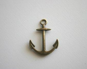 4 Antique Bronze Large Anchor Charms Nautical Charm Pirate Sailor Vintage Jewelry Supplies Pendant Ship