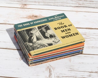 The Book of Knowledge Little Reference Series Vintage Educational Books for Children Estate