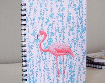 "A 6 spiral notebook ""Flamingo"""