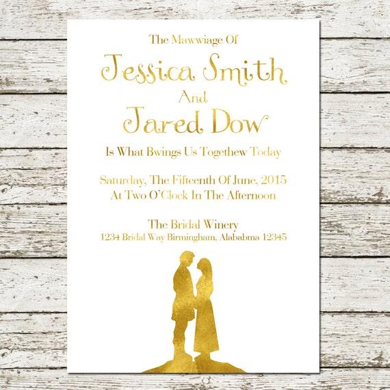 Princess Bride Wedding Invitation Printable by ...